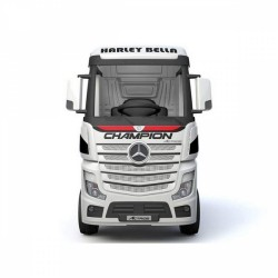 Акумулаторен камион Mercedes ACTROS Licensed 4X4, батерии 2X12V с MP4, меки гуми и кожена седалка