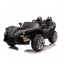 Акумулаторна кола за две деца Volcano Black