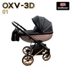 Бебешка количка 3в1 Avenue 3D еко кожа