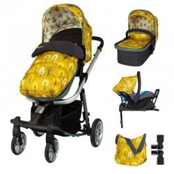 Комплект количка Cosatto Giggle Quad 5в1, i-Size база и чувалче за крака