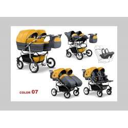 Бебешка количка за близнаци Mikado Twin 2в1