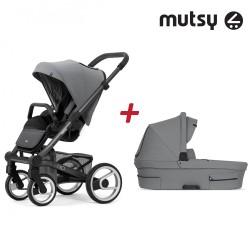 Пакет Шаси Mutsy Nio+ Кош за новородено и Седалка и сенник