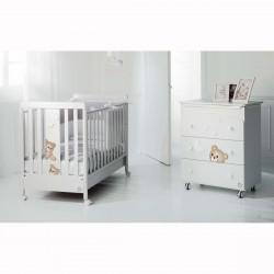Бебешко креватче Cielo,скрин с вана и повивалник и спален комплект