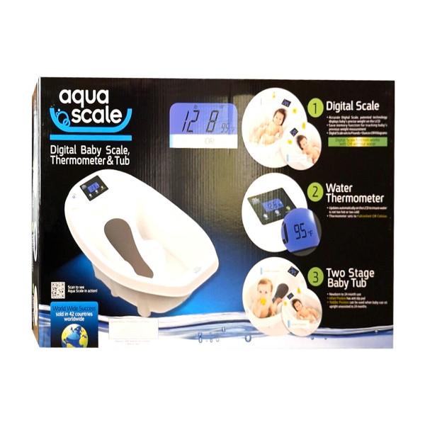 Дигитална бебешка вана с везна и термометър Aquascale 3-в-1